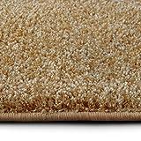 casa pura Shaggy Teppich Bali | Weicher Hochflor Teppich für Wohnzimmer, Schlafzimmer und Kinderzimmer | mit GUT-Siegel | Verschiedene Größen | viele Moderne Farben (100 x 150 cm, gelb)