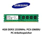 Samsung 4 GB DDR3 1333 MHz PC3 – 10600u 1,5 V 2Rx8 240 Pin PC 3rd memoria ram Memory immagine