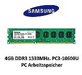 Samsung 4GB DDR3 1333Mhz PC3-10600U 1,5V 2Rx8 240 PIN PC 3rd Arbeitsspeicher Memory