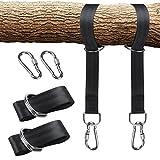 2Swing Träger tragenden Hängematte Straps hochfesten Swing-Aufhänge-Set Outdoor Swing Strap Seil mit Sicherheit Lock Karabiner Tragetasche