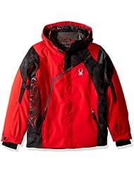 Spyder Challenger Chaqueta de Esquí, Niños, Rojo/Negro, 10