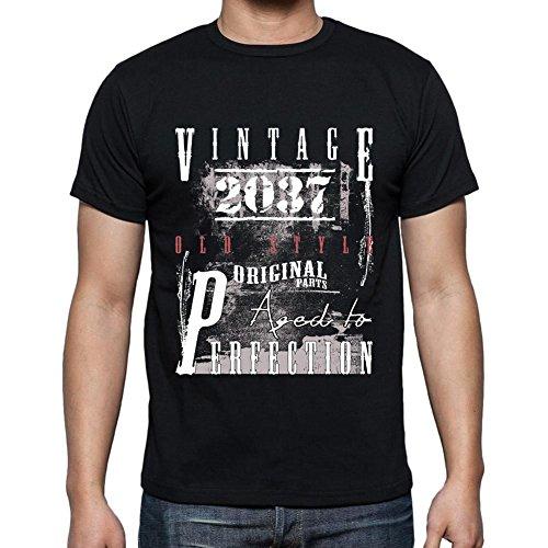 2037, Herren T-shirt, t shirt herren, tshirts männer Schwarz
