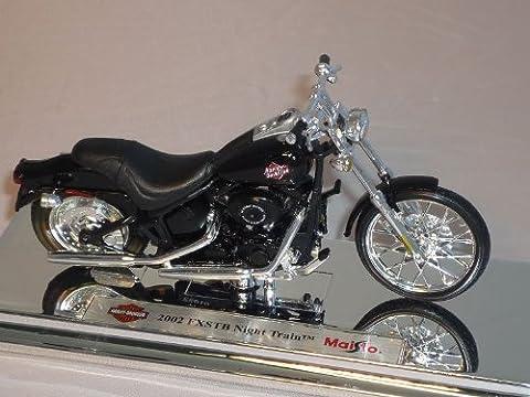 harley Davidson 2002 Fxstb Night Train Schwarz 1/18 Maisto Modellmotorrad Modell Motorrad