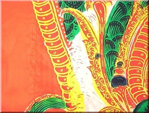 DEKOVALENZ - Drachen-Fahnen Stoff Dragon mit Herz-Spitze, versch. Farben, Farbe:orange, Fahnenlänge:5 Meter