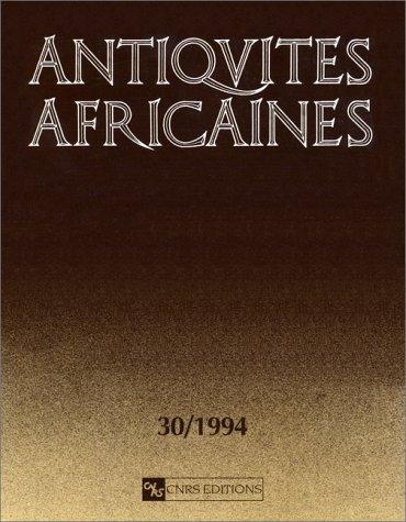 Antiquités africaines, numéro 30-1994