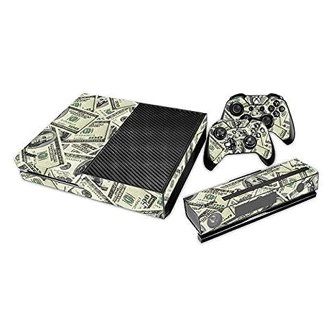 Pandaren® pleins faceplates skin sticker pour console Xbox One x 1 et le manette x 2 et kinect x 1(US dollar)