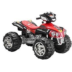 Mondial Toys Super Quad per Bambini ATV con LUCI E Suoni Nero