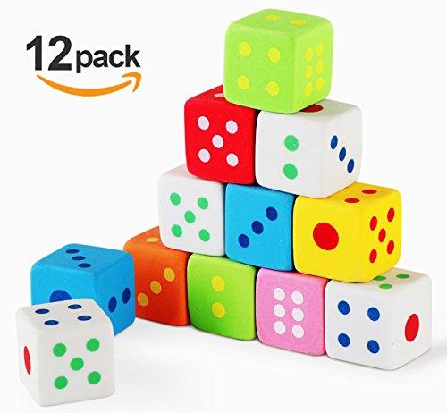 Neuheit Radiergummi Würfel für Kinder Mitgebsel Briefpapier Geschenk Spielzeug, 12 Stück (12 Stück Geschenk)