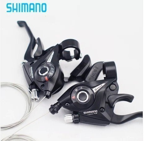 Shimano Ef-51 Shifter/brake Lever Combo (3 X 7 Speed) with Shift Cable Right + Left by 4Ucycling
