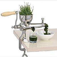 Manual de acero inoxidable wheatgrass licuadora extractor de jugo de hierba de trigo sano