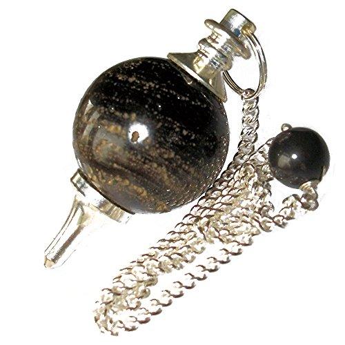 Péndulo esférico para radiestesia y sanación en Cristales de Piedra Semipreciosa Genuina (Cuarzo Ahumado)
