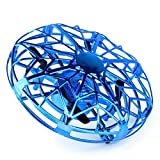 GOUPPER Quad Copter Drone Toy, Self-Flying Drones Flying Toy Drop Resistant Mini for Kids Toy (Blue)