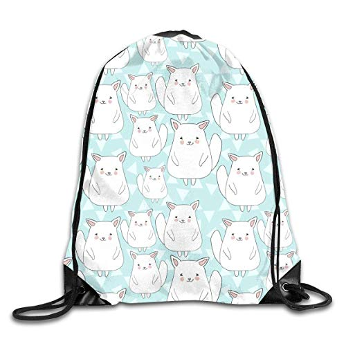 ucksäcke, Drawstring Sports Backpack Bags Gym Bag Sack Party Favor Bag Overnight Bag for Unisex Girls Lovely Chinchillas Girls Lovely Chinchillas Lightweight Unique 17x14 IN ()