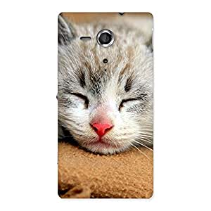 Enticing Premium Cute Sleepings Cat Multicolor Back Case Cover for Sony Xperia SP