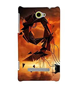 For HTC Windows Phone 8S :: HTC 8S9 symble, symble, yellow background, water Designer Printed High Quality Smooth Matte Protective Mobile Case Back Pouch Cover by APEX
