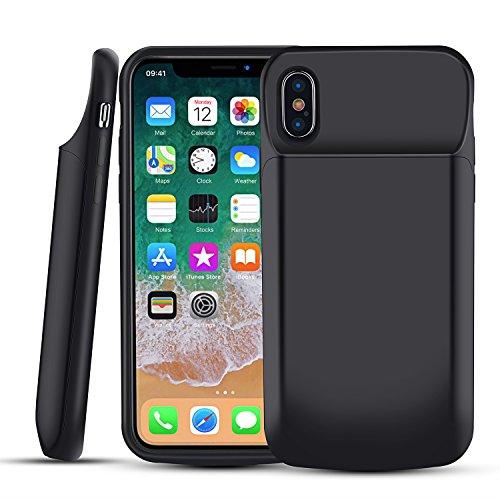 Custodia RICARICABILE per iPHONE 5 nera