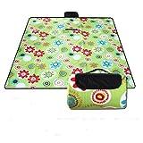 WZS Campingdecke Flannelette Lässig Auf Einem Picknick Matte,Grüne,Tuba: 190 × 200