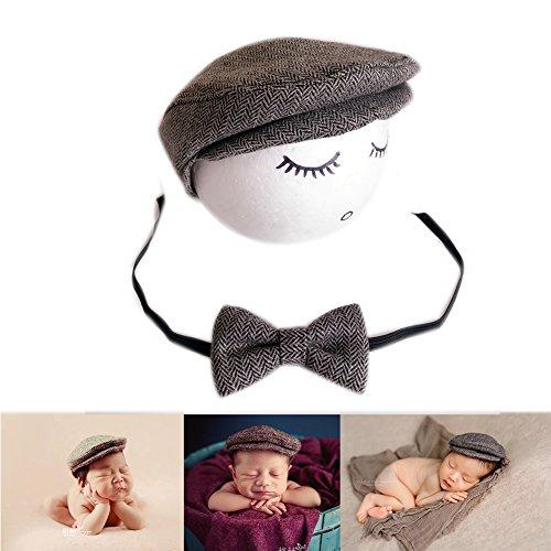 Neugeborene Baby Fotografie Foto Stützen Junge Mädchen Kostüme Outfits Kleidung Niedlichen Hut (Grey)