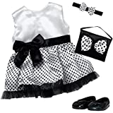 "Adora Amazing Girls 18"" Doll Clothes - Polka Dot Party Dress Outfit With Dress, Headband, Shoes, And Purse [Amazon Exclusive]"