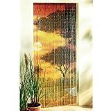 Bambusvorhang Türvorhang 90 x 200cm Sonnenuntergang Raumteiler Insektenschutz