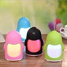 L'umidificatore del pinguino ha condotto i piccoli quarti di respirazione portatili di USB del comodino della camera da letto di Nightlight piccole luci