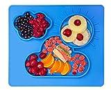 Kenley Silikon Platzdeckchen Tischset für Baby und Kinder - Abwaschbar Rutschfest Teller / Schale Set - BPA Frei