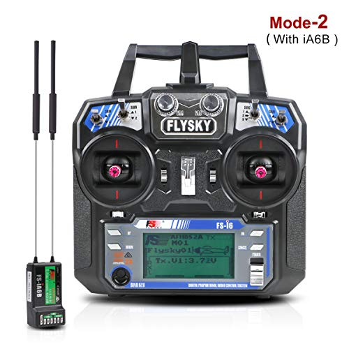 LITEBEE Flysky FS i6 6CH RC Radio Transmitter + FS ia6B RC receiver (  2 4GHz, AFHDS 2A, RC Transmitter and receiver ) for RC Drone Quadcopter (  Mode 2