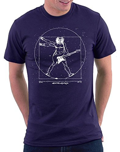 Da Vinci Guitar T-shirt Navy