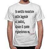 thedifferent T-Shirt Uomo Frase George Best La Leggenda - Bianco
