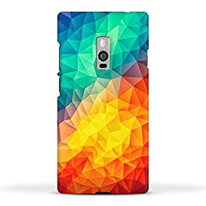 FUNKYLICIOUS OnePlus 2 Back Cover Abstract Multi Color Cubizm Painting Design (Multicolour)
