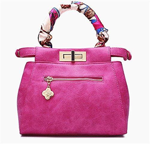 Xinmaoyuan Borse donna Borse donna Lady Scrub moda Borsetta tracolla croce obliqua sacchetto della benna Rose Red