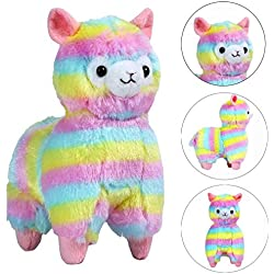 Cute Squishy EUZeo Peluche Juguete Rainbow Alpaca Squishies Kawaii Juguetes Squishy Toy Stress Relief Juguete Slow Rising Juguetes Descompresión Toys