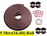 #5: LifeKrafts 5 Meters (16.4Feet) Thick Rubber Edge Cushion + 8 Corner Cushions | Table Edges Guard for Baby , toddler , Child Safety | Edge Protector | Table Corner Cushions | Baby Proofing | Child Safety Furniture Bumper