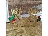YIIO Montature per occhiali con strass Decorazioni natalizie (oro)