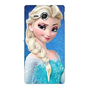 Special Winked Princess Freez Multicolor Back Case Cover for Sony Xperia SP