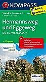 Hermannsweg und Eggeweg, Die Hermannshöhen: Wander-Tourenkarte. GPS-genau. 1:50000 (KOMPASS-Wander-Tourenkarten, Band 2504)