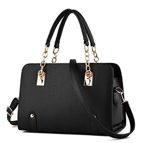 Mefly Tutti-Match Borsa Moda Crossbody Bag Air Bag Blu Brillante black