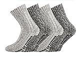 TippTexx24 ® 6 Paar superwarme ABS-Stopper-Norweger-Socken EIN ECHTER HAUSSCHUH-ERSATZ (43 bis 46)