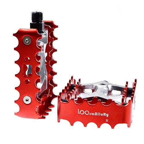 iParaAiluRy piattaforma Bike Pedali - lega di alluminio della bicicletta pedali pedali bici in acciaio CNC in esecuzione assale 9/16