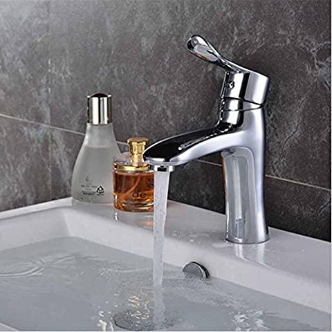 Furesnts casa moderna cucina e bagno rubinetto elegante e compatto con vasca calda e fredda rubinetti bacino tutti a doppio rubinetto del lavandino chiave,(Standard G 1/2 tubo flessibile universale porte)