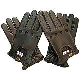 Prime Leder Handschuhe Top Qualität Echtleder Weich Ohne Futter Auto Fahrer Handschuhe (502-N) Schwarz Braun Hellbraun - XL, Braun