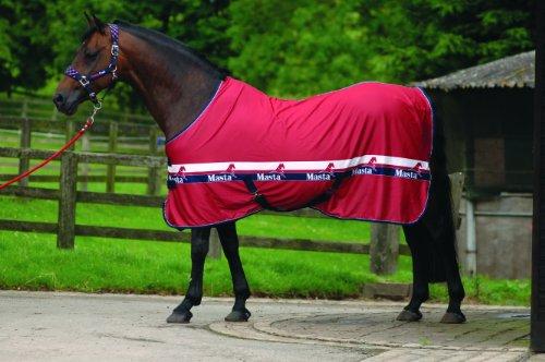 Masta Stalldecke / Pferdedecke aus Polypropylen rot rot 137 cm Preisvergleich