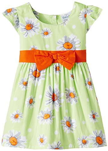 Doodle Baby Girls' Dress (FDSWN2056 B BB_Green_18-24 months)