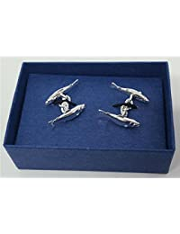 Cufflinks Silver Plated-Salmon or Cartridges