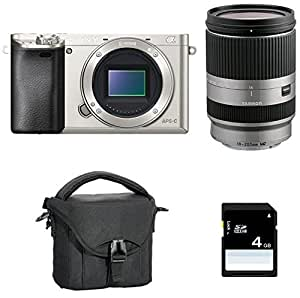 Sony α6000 + Tamron 18 - 200mm MILC 24.3MP CMOS 6000 x 4000pixels Silver - digital cameras (MILC, 24.3 MP, CMOS, 6000 x 4000 pixels, 6000 x 4000 6000 x 3376 4240 x 2832 4240 x 2400 3008 x 2000 3008 x 1688, JPG)