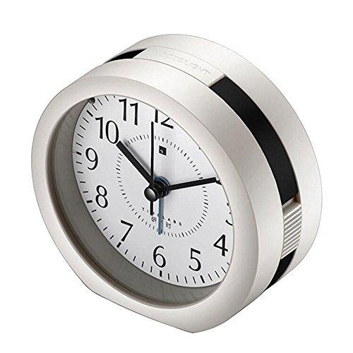 Aus Dual-alarm-clock-schwarz (Skitic Wecker Analog ohne Ticken mit Nachtlicht Batteriebetrieben Musik Wake Up Reisewecker für Reise, Heim und Büro - Schwarz)
