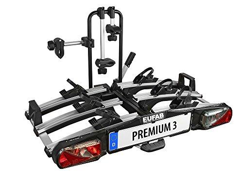 Eufab 11522 Heckträger Premium III für Anhängekupplung klappbar 3 Fahrräder