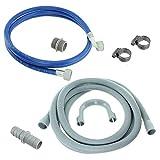 FindASpare - Kit di prolunga universale per tubo dell'acqua e tubo di scarico per lavatrici Beko, Hotpoint