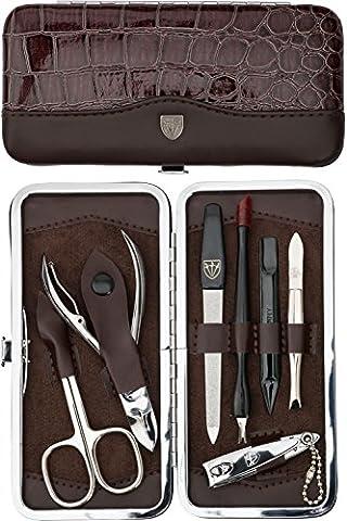 TROIS EPÉES | Kit / set / ensemble / trousse de manicure – manucure – pédicure – beauty / beaute – soins des ongles / personnels / mains / pieds | 7 pièces | marque de qualité (777911)