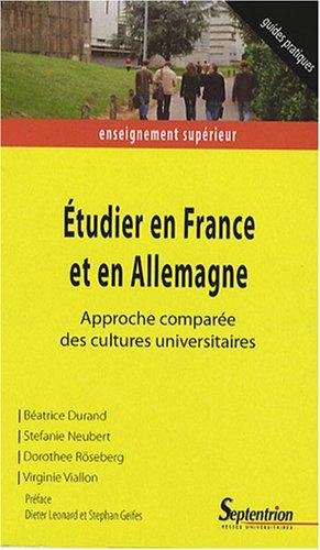 Etudier en France et en Allemagne : Approche comparée des cultures universitaires